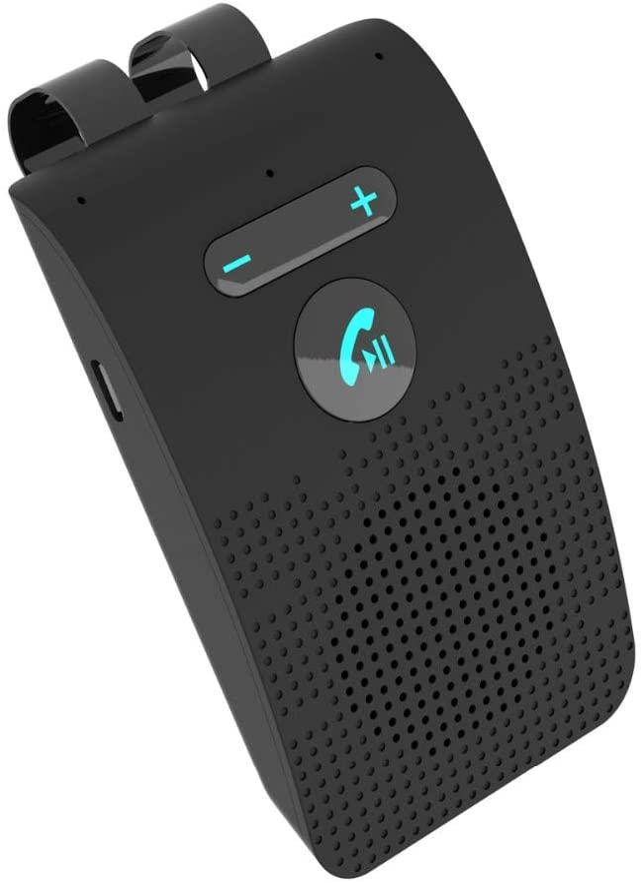 YeBetter Sp09 Altavoz Manos Libres para Automóvil Kit Inalámbrico Teléfono con Altavoz Multipoint Car Mp3 Kit con Visera
