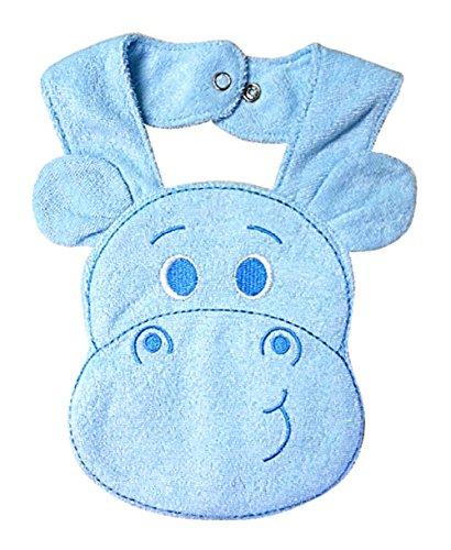 The One Box Three-d Kids Baby Girl Boy Toddler Bibs Cute Cartoon Hippo Soft Saliva Towel