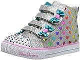 Skechers Kids Girls' Shuffle Lite-Fancy Flutters Sneaker, Gray/Multi, 12 Medium US Little Kid