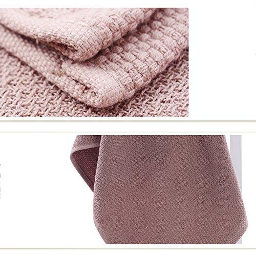 Asciugamani multicolore LI asciutto Marrone respirabile Rosa SHOP LU sano Morbido Colore Fq0FA