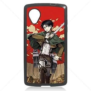 Shingeki no Kyojin Attack on Titan Manga Anime Comic Levi LG Google Nexus 5 Hard Plastic Black or White cases (Black) by runtopwell
