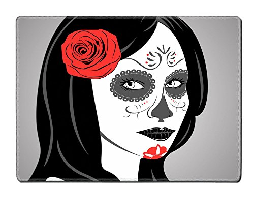 Liili Natural Rubber Placemat IMAGE ID: 22631817 Vector of Sugar Skull Lady with face paint for Day of the Dead Dia de los (Mexican Halloween Face Paint)