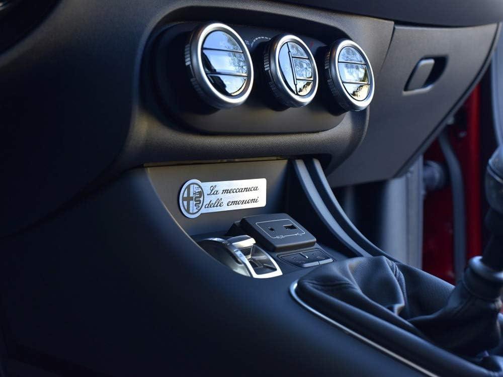 Interieur Stahlabdeckung f/ür Alfa/_Romeo GIULIETTA 1 St/ück Platte Emblem Zubeh/ör Edelstahl Geb/ürstet Blenden Cockpit Dekor Mass Angefertigt