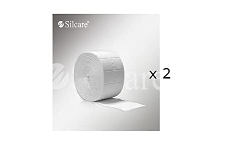 2 Rollo Toallitas Algodón celulosa Gel Manicura – 2 x 500 piezas)