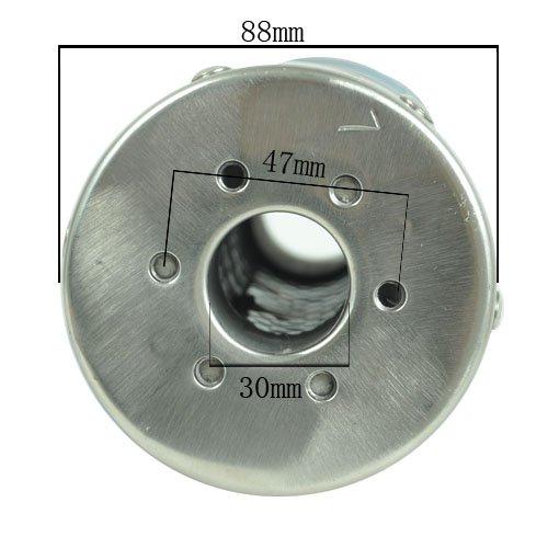Wotefusi Silencieux dechappement Modifie Oblique Universel en Alliage daluminium 88x300MM pour 150CC SR250 TZR125 Scooter Moto 2-Temps