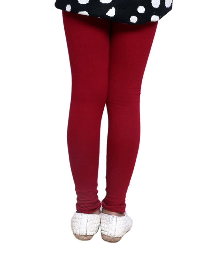 Indistar Little Girls Super Soft Cotton Leggings Combo Pack Of 2