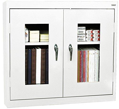Sandusky Lee WA2V361230-22 Clear View Wall Cabinet, 36''W x 12''D x 30''H, White