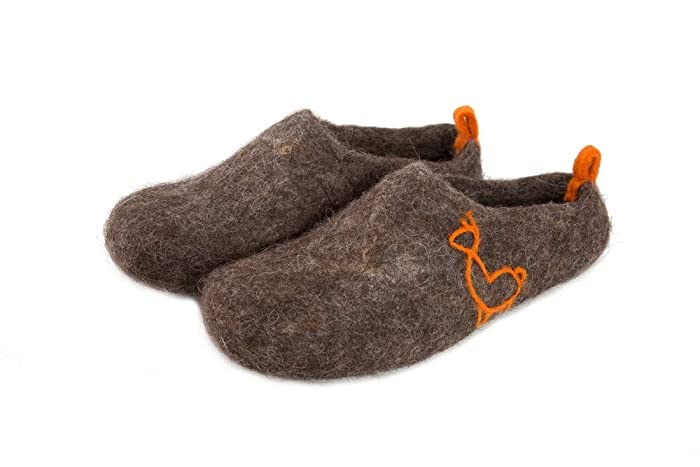 Felt Felted Wool Slippers/clogs / House Shoes/mules / Womanu0027s/menu0027s Unisex