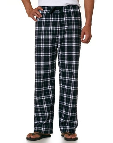 Price comparison product image boxercraft Adult Team Pride Flannel Pants - Black/White - 2XL