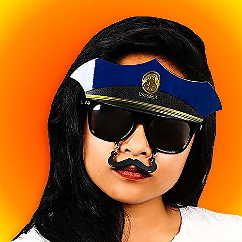 Police Officer Sunstaches - Sunglass Police