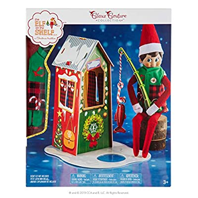 The Elf On The Shelf Claus Couture Frosted Fishing Hut, Green: Toys & Games