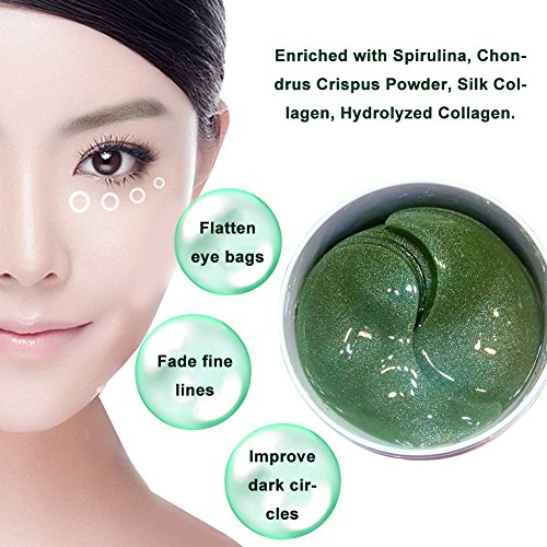 51BL3sYZkDL - Under Eye Pads, Collagen Eye Mask, Eye Treatment Mask, Puffy Eyes, Eye Patches, Natural Eye Mask with Anti Aging,Dark Circles and Puffiness, Anti Wrinkle, Moisturizing, (30 Pairs)