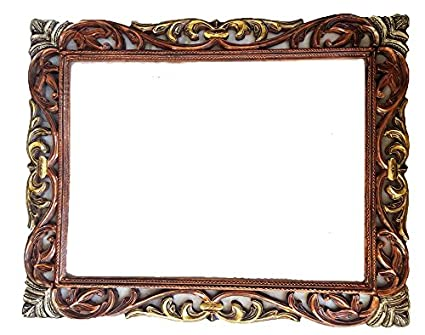 Buy Wooden Mirror/Photo Frame with Antique Look Online at Low Prices ...
