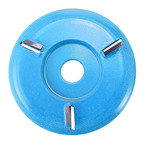 Three-tooth Milling Cutter Hylotele Woodworking Turbo Tea Tray Digging Wood Carving Disc Tool Milling Cutter for 16mm Aperture Angle Grinder (Tooth Disc)