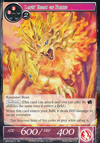 Force of Will - Lapis' Beast of Flame - BFA-024 - Common - Battle for Attoractia