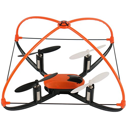 XT-FLYER-Self-Righting-4CH-RC-Quadcopter-6-Axis-Helicopter-Toys-Gyro-360-Degree-Eversion-24GHz-Remote-Control-Drone-with-LED-Flashing-Lights-Blade-Protector-OrangeBlack