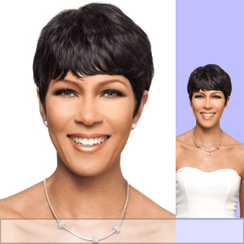H/H KANDI (Foxy Lady) - Human Hair Full Wig in F1B30 (Caucasian Wigs)