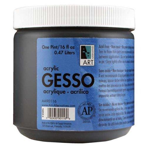 Art Alternatives Black Acrylic Gesso - 16oz Jar,1-Pack -