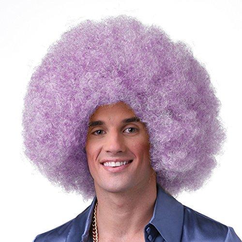 light blue afro wig - 9