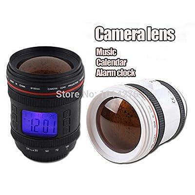 FedEx 48Pieces Novelty Camera Lens Music Calendar LED Alarm Clock with Star Sky Projector Light