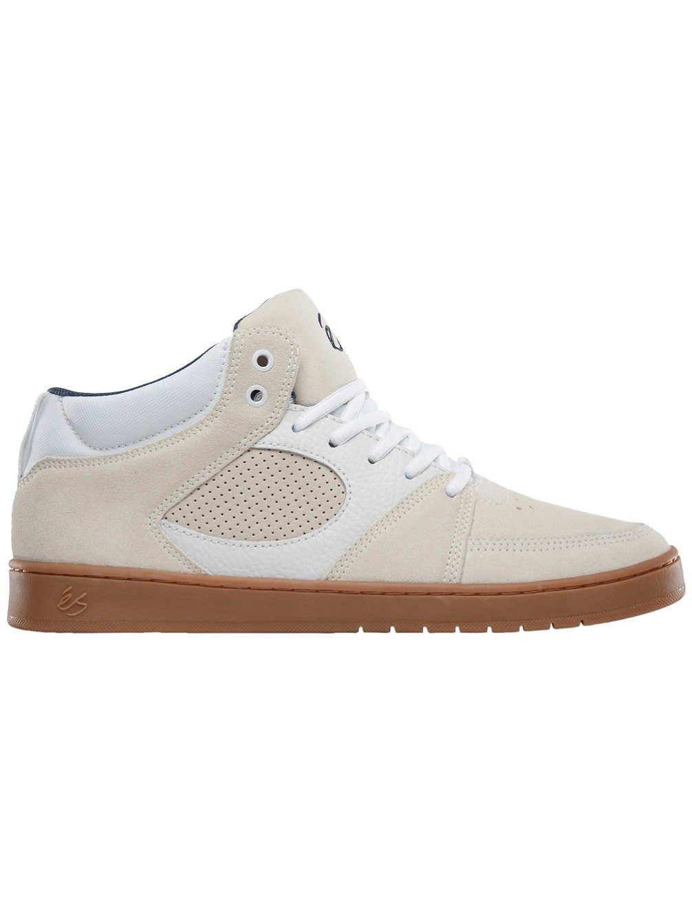 eS Men's Accel Slim Mid Skate Shoe 13 D(M) US White/Gum