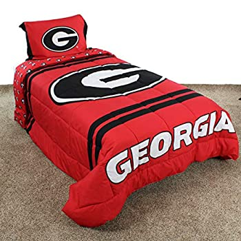 Image of Bed-in-a-Bag College Covers Georgia Bulldogs Comforter Set, Queen, Team Color