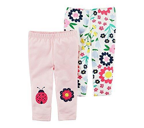 Carter's Baby Girls' 2 Pk. Ladybug Floral Leggings 24 Months