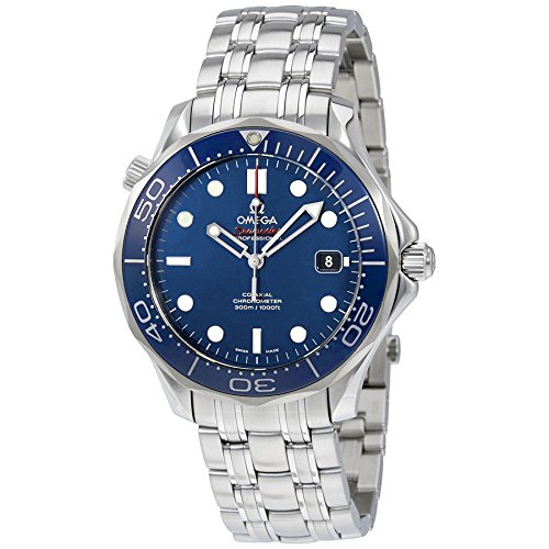 Omega Seamaster 300 Meter Automatic - Omega Men's O21230412003001 Seamaster Analog Display Automatic Self-Wind Silver-Tone Watch