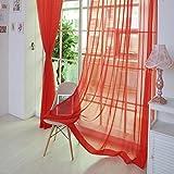 YanHoo 1 PCS Pure Color Tulle Door Window Curtain Drape Panel Sheer Scarf Valances (B)