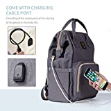 SUNVENO Diaper Bag Backpack with USB Charging