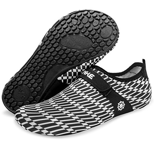 for Quick Yoga Barefoot Barerun Water Men Women Stripe Dry White for Beach Socks Pool Sports Aqua Swim Black Shoes Surf w6nxOnq
