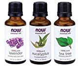 Now Foods Essential Oils 3-Pack Variety of NOW Essential Oils: Tea Tree, Eucalyptus, Lavender