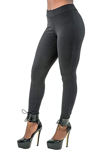 4cb17ee55f0f3 Poetic Justice Curvy Women's Elastic Waistband Basic Leggings Size Small  Black