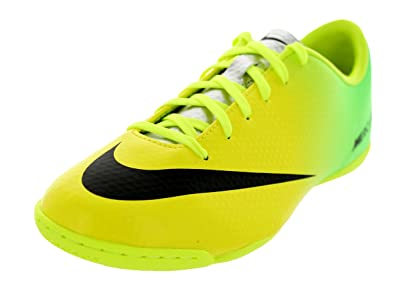 official photos 67d49 7d1d3 Nike Kids Jr Mercurial Victory IV IC Vibrant Yellow Black Neo Lime Soccer  Cleat