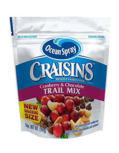(Ocean Spray Craisins Dried Cranberries Trail Mix, Cranberry & Chocolate, 5 Ounce (Pack of 12))