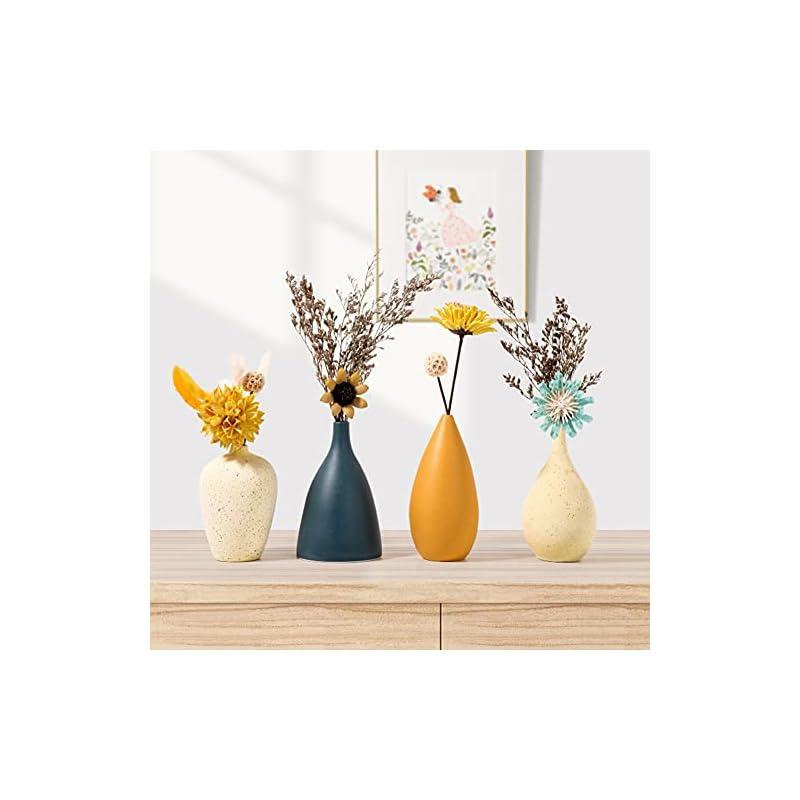 Ceramic Vases for Decor Small Flower Decorative Vase for Farmhouse - Table Vase with Modern Design Morandi Matte Color…