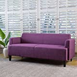 Christopher Knight Home 298297 Maeve Fabric Sofa, Fuchsia