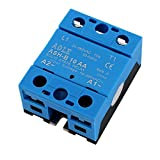 uxcell ASH-B10AA 50-280VAC to 480VAC 10A Single Phase Solid State Relay AC to AC Relay Authorized