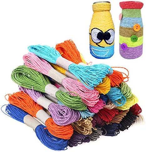 Gshy Rafia - Corbata de Papel para Manualidades, 25 m, 12 Colores ...