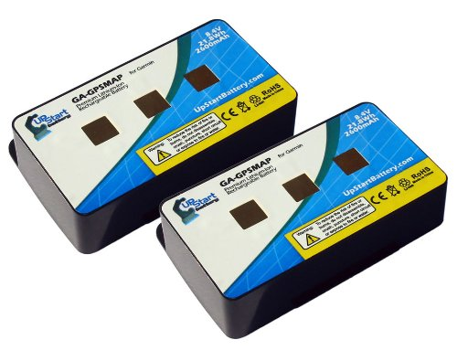 2 Pack - Replacement for Garmin GPSmap 276c Battery - Compatible with Garmin GPS Battery (2600mAh 8.4V Lithium Polymer)