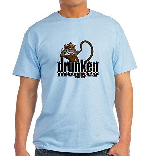 CafePress Drunken Monkey Ash Grey T-Shirt 100% Cotton T-Shirt