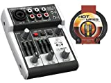 Behringer 302USB XENYX Audio Mixer with MC12-15 15' Mic Cable