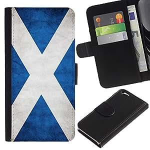 iKiki Tech / Cartera Funda Carcasa - Scotland Grunge Flag - Apple iPhone 6 4.7