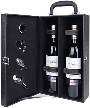 La Caja de Vino Puede Contener 2 Botellas de Caja de Regalo de Vino de Caja de Vino Caja de Vino de Cuero de Caja de Regalo: Amazon.es: Hogar