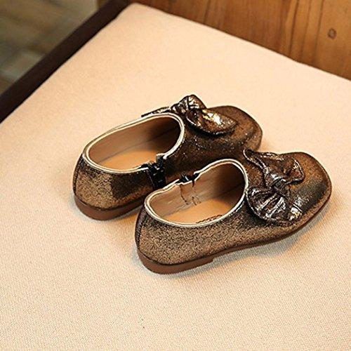 Kinder Princess Bling Bow Kid Leder Bowknot Schuhe Infant JIANGFU Schuhe Princess Zip Einzelne Solide Schuhe Schuhe Schuhe Kleine Gold Dance Schuhe Helle dCqznw