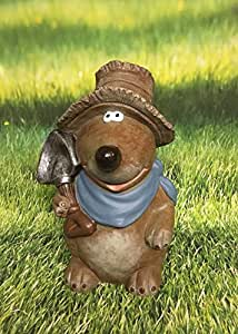 Mauli la figura decorativa Topo con pala y sombrero Jardín Decoración