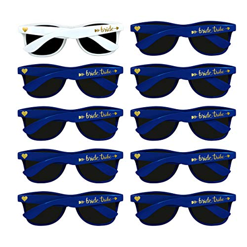 Bridal Shower Favors Bachelorette Party Supplies 10pcs Navy Blue Weddings Sunglasses