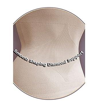 Aha Moment N-fini Womens Lycra Dbl V-Neck Tank Shapewear Wire Free Built-in Spandex Cup Bra