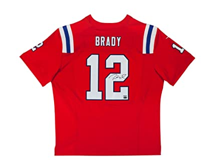 the best attitude cd44b 511cc Tom Brady Autographed Authentic Nike Alternate Red Jersey ...