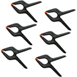 6-Pack Set Muslin Spring Clamps Clips 3inch 7.8cm for Photo Studio Backdrops Backgrounds Woodworking